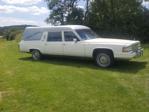 White Cadillac Hearse 2