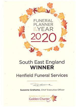 Winner Golden Charter Funeral Planner